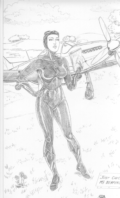 Black Venus Pin-up - Pencil